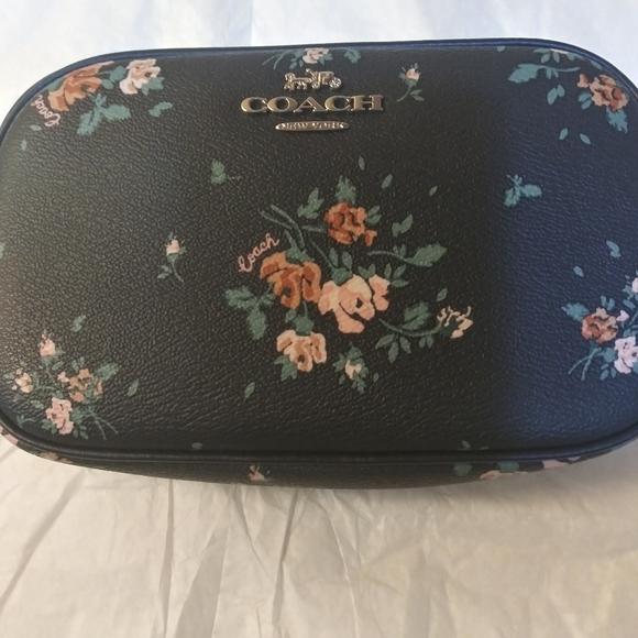 Coach Handbags - Coach crossbody bag in blue with flowers